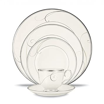 Amazon.com | Noritake Platinum Wave 20-Piece Set, Service for 4 ...