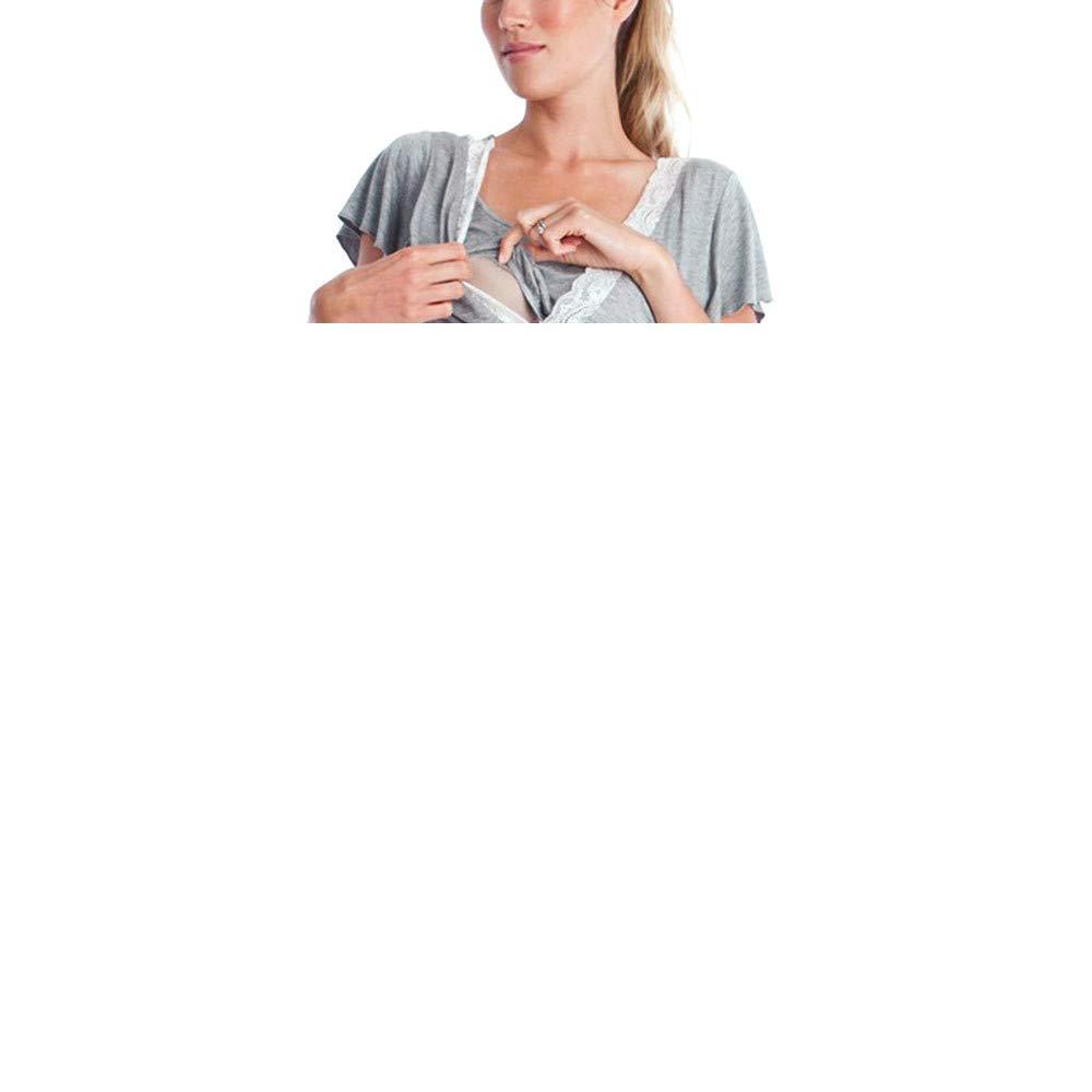 Robe Maternit/é Dentelle,Yesmile Femmes M/èRe Dentelle Pr/éImpr/éGnants Casual Allaitement B/éB/é Pour Robe De Pyjama De Maternit/é