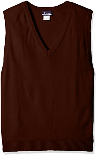 Classroom Uniforms mens Plus Size Adult Unisex V-neck Sweater Vest