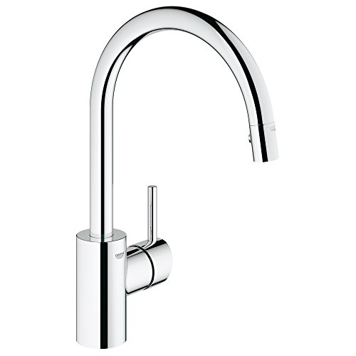 - Concetto Single-Handle Pull-Down High Arc Kitchen Faucet