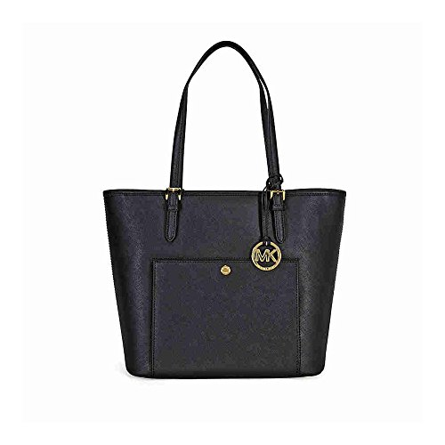 Michael-Michael-Kors-Jet-Set-Large-Leather-Tote-Black