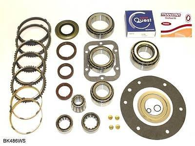 Ford ZF S6-650 6 Speed Transmission Bearing Kit with Synchronizer Rings BK486WS by Transolution