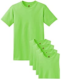 Hanes Comfort Soft Crew Neck Tee (Pack of 5), Lime, XX-Large