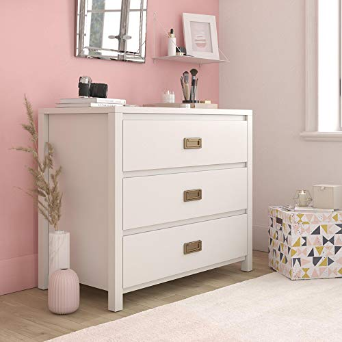 Little Seeds 1642013COM Monarch Hill Haven 3 Drawer White Kids Dresser, (Drawer Chest 3 Painted)