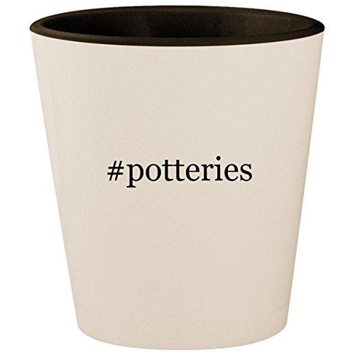 #potteries - Hashtag White Outer & Black Inner Ceramic 1.5oz Shot Glass ()