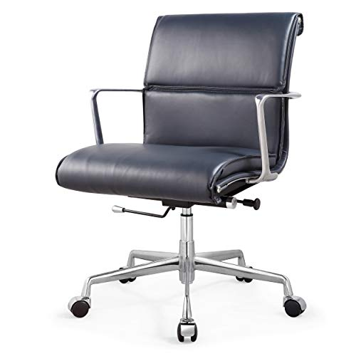 Meelano 347-NVY M347 Home Office Chair, Navy Blue