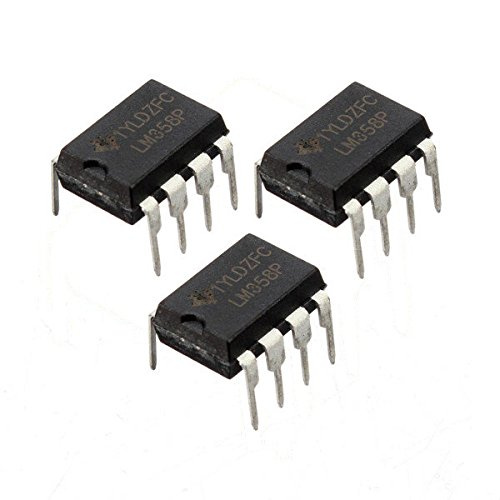 3 Pcs LM358P LM358N LM358 DIP-8 Chip IC Dual Operational Amplifier - Arduino Compatible SCM & DIY Kits Microcontroller Chip & IC - 3 x LM358 dual operational amplifier