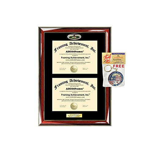 AllGiftFrames Double Diploma Frame University of North Carolina Charlotte UNCC Dual Degree Holder Engraving Degree Nursing Business Engineering Education School -