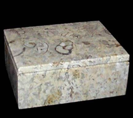 - Khan Imports Fossil Stone Pet Urn Box, Tan Marble Pet Urn for Cat or Small Dog Ashes - Up to 14 Pounds