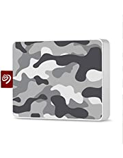 Seagate One Touch SSD 500GB External Solid State Drive Portable – Camo Gray/White,USB 3.0 for PC Laptop and Mac, 1yr Mylio Create, 2 months Adobe CC Photography (STJE500404)