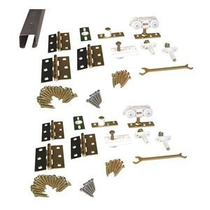 Pemko Folding 100 Series Steel Sliding and Folding Door Hardware Kit, Four Panel, 96