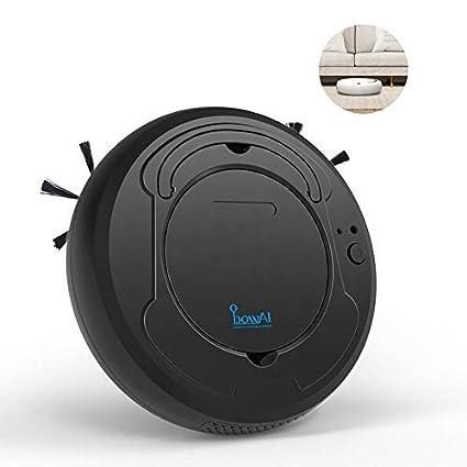 leegoal Aspirador de Robot 3 en 1, Barredora robótica Inteligente de Uso doméstico con Limpieza/succión Fuerte/sensores súper silenciosos/Inteligentes ...