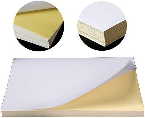 GFULLOV Papel de impresión, Etiqueta Adhesiva A4 ecológica ...