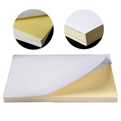 Papel de impresión, A4 etiqueta adhesiva ecológica estándar en blanco bricolaje autoadhesivo oficina hoja brillante para...