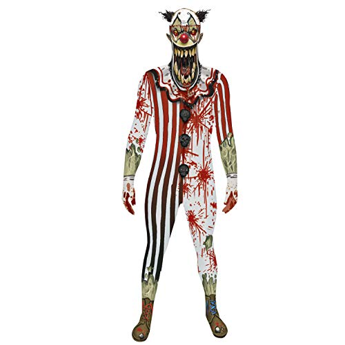 Make Your Own Halloween Clown Costume (Morphsuits Official Adults Clown Orc Jaw Dropper Monster Fancy Dress Costume -)