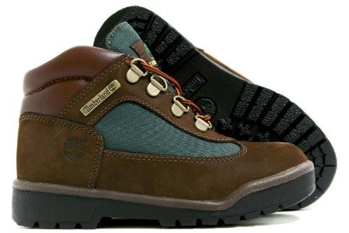 Timberland Leather and Fabric Field Boot ,Brown/Olive,3 M US