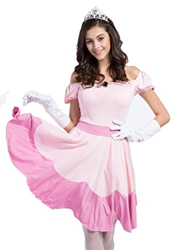 Adulti bianco Principessa M point Tiara Set Guanti Calze Dimensioni Peach 4 Vestito q6ntUA