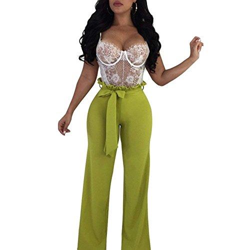 Autunno Moda Slim Cintura Larghi Cute Gr Lunghe Donna Chic Inclusa Pantaloni Primaverile Pantalone Monocromo High Pantaloni Eleganti Waist Palazzo Fit 7qavtTaO