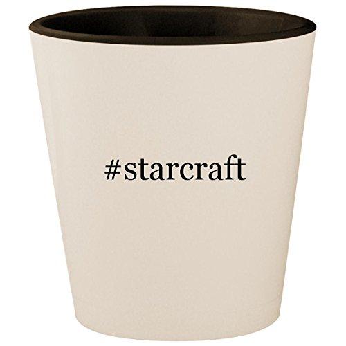 #starcraft - Hashtag White Outer & Black Inner Ceramic 1.5oz Shot Glass ()