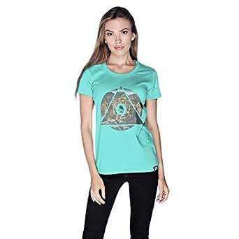 Creo Almaty Mountain City T-Shirt For Women - S, Green