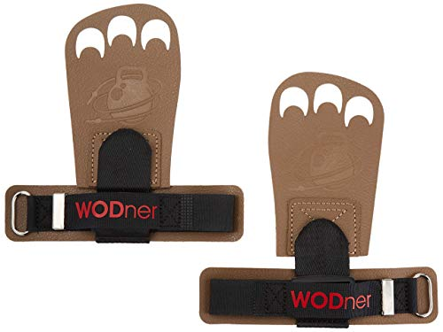 WODner One Size Fits All Handsavers | Premium Leather Grips Cross Training Gloves for WODs, Gymnastics, Olympic Weightlifting, Calisthenics & Gym, Great Protection Against rips and blisters