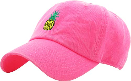 - KBETHOS Pineapple Dad Hat Baseball Cap Polo Style Unconstructed (Adjustable, (021) Pineapple Classic Neon Pink)