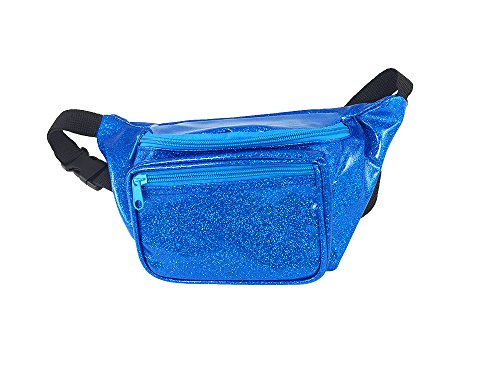 Coke Bottle Costumes For Kids (Shiny Glittery Flashy Fanny Pack (Sparkle Blue))