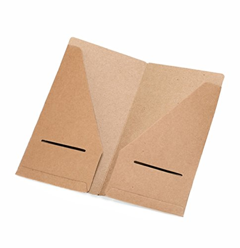 Kraft File Folder – Brown Card Holder Refill Pack For Travelers Notebook 8.25