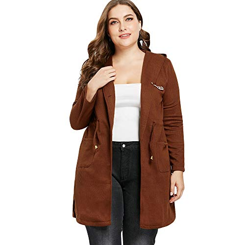 Plus Size Longline Ripped Detail Coat from Missroo