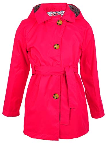 Pink Platinum Girls' Big Trench Coat, Pink Peacock ()