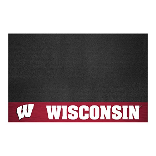 FANMATS NCAA University of Wisconsin Badgers Vinyl Grill Mat