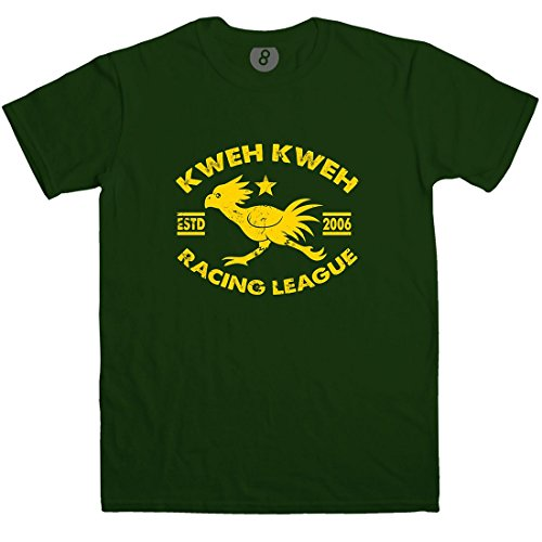 Chocobo Racing League Inspired by Final Fantasy T Shirt - Forest green - (Fantasy Movie Shirt)