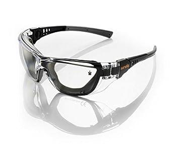 Scruffs Falcon Lunettes de sécurité noires, protection des yeux pour le  travail et le VTT f8083da59e89