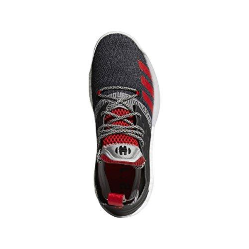 "adidas Harden Vol. 2""Lift Off Shoe - Men's Basketball 8.5 Core Black/Medium Grey/Scarlet"