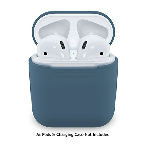 Price comparison product image PodSkinz AirPods Case Protective Silicone Cover and Skin for Apple Airpods Charging Case (Cobalt Blue)