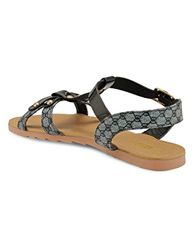 Yepme - Sandalias de vestir de Material Sintético para mujer negro negro