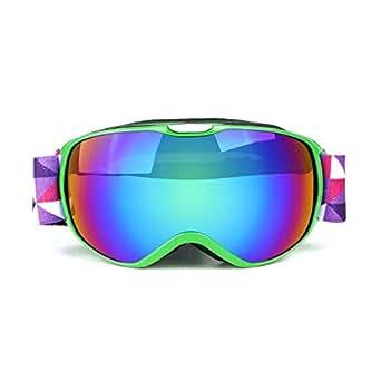 Double Layer Anti Fog Ski Goggles For Children Ski Goggles Outdoor Mountaineering Ski Goggles Green