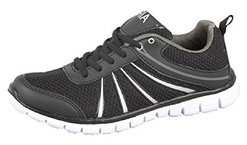 Traje de neopreno para mujer 'Air Jet' de chándal ligero tipo libro con función de filo para rodillo de entrenamiento corredor con puntera de metal Negro - negro