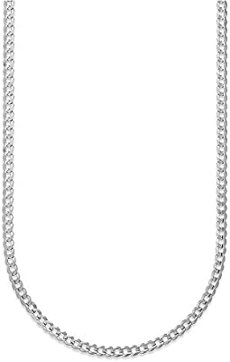 White or Rose 10K Gold 2.3mm Cuban//Curb Link Chain Necklace Yellow Multiple lengths available