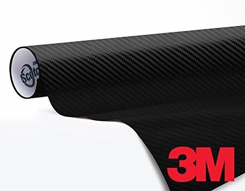(3M 1080 Carbon Fibre Black Air-Release Vinyl Wrap Roll (1/2ft x 5ft) )