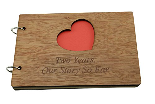 2 Years Our Story So Far - Scrapbook, Photo album or Notebook Idea For 2nd Anniversary