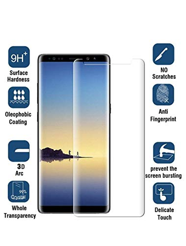 [2 Pack] Samsung Galaxy Note 9 Tempered Glass Screen Protector, invarsely [HD Clear][Anti-Bubble][9H Hardness][Anti-Scratch][Anti-Fingerprint] Screen Protector Note 9 by Acedining (Image #3)