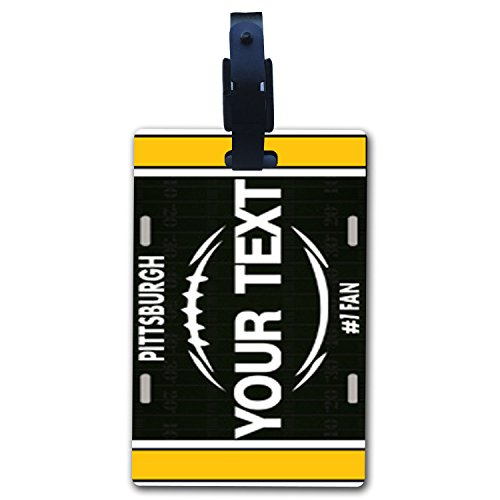 - BleuReign(TM Personalized Custom Name Football Pittsburgh License Plate Luggage Tag with Strap