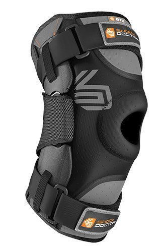 Shock Doctor Ultra Knee Supporter with Bilateral Hinges (Black) - Single