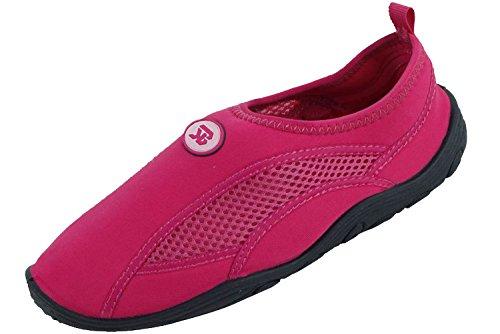 Sunville Womens Water Shoes Aqua Socks Fucsia-2909
