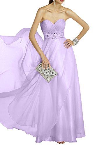 Lilac Neu La mit Partykleider Kleider Perlen Abendkleider Promkleider mia Jugendweihe Festlichkleider Lang Brau 2018 Traegerlos HI6x1FI