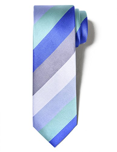 Origin Ties Men's Fashion 100% Silk Handmade Colorful Twill Striped Festival 2.25
