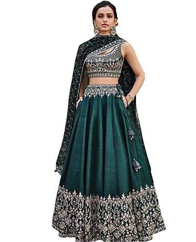 bollywood designer party wear wedding lehenga choli for women Christmas gift lehena choli trendy culture 0092