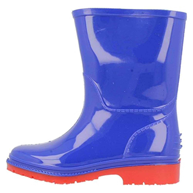 Clarks Boys Seasonal Harrison Jnr Synthetic Wellies In Blue Wide Fit Size 1