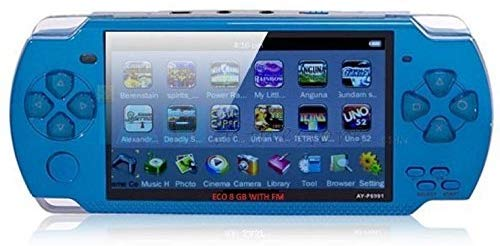 Marklif PSP Game console with 10000 Games, Music, Alarm, Calculator Camera, SD Card Slot And 1 Set cartoon Earphone